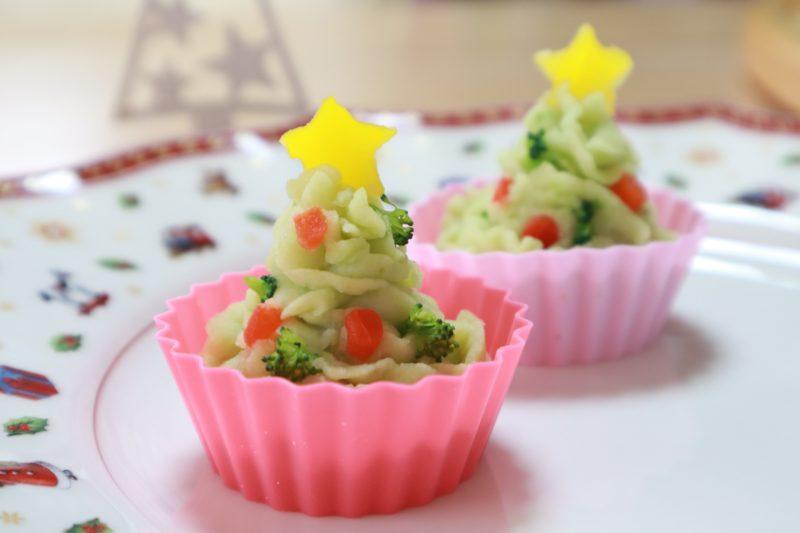 クリスマスツリーのポテトサラダ!大人メニューにも使いまわしOKのクリスマス幼児食!