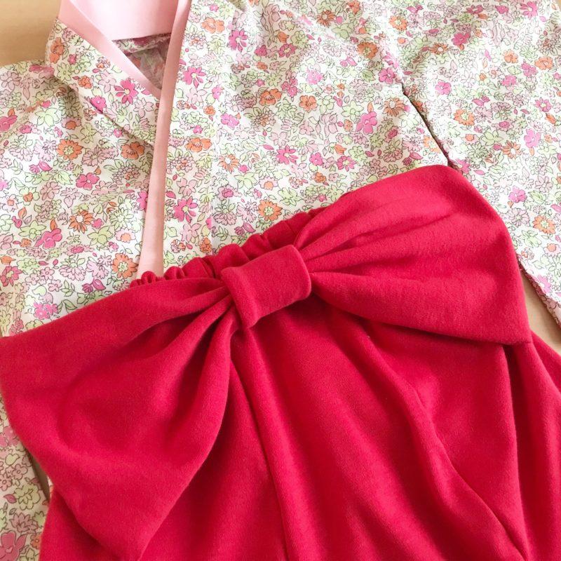 無料型紙でハンドメイド!手作りベビー袴(70サイズ)を作ってみました。