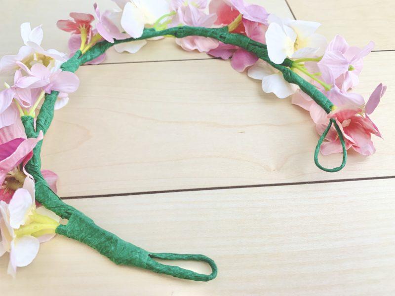 簡単手作り花冠(花かんむり)の作り方